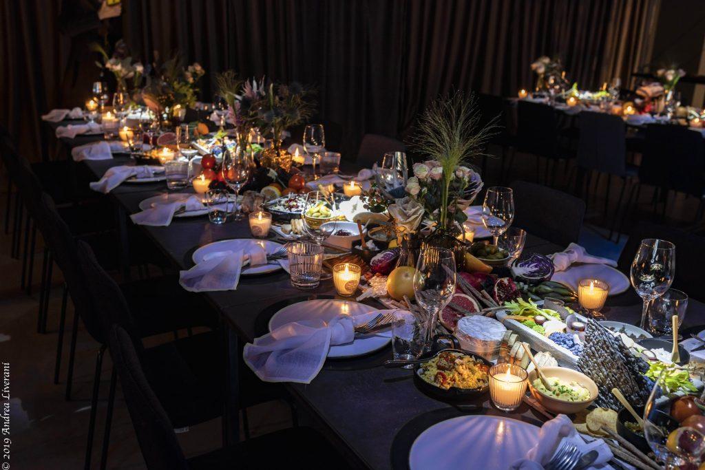 centrotavola gastronomico, food experience, catering nozze, catering sensoriale, bibendum