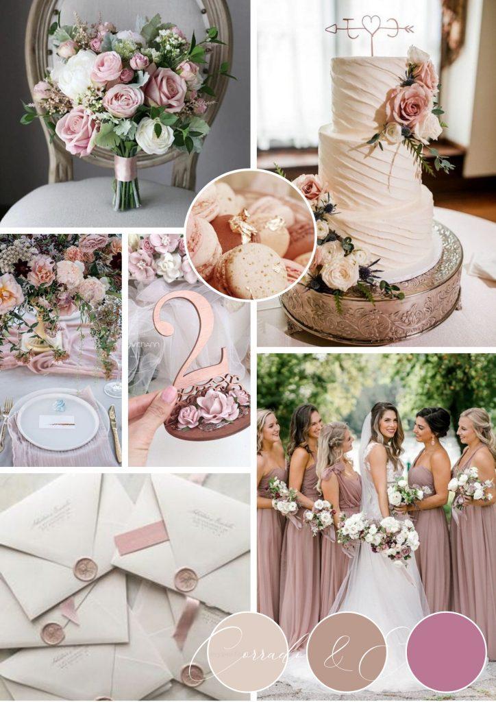 matrimonio estate rosa cipria