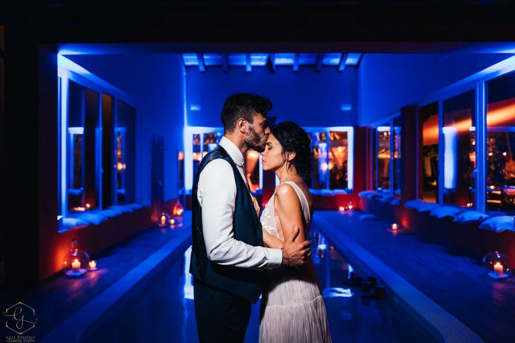 matrimonio bordo piscina