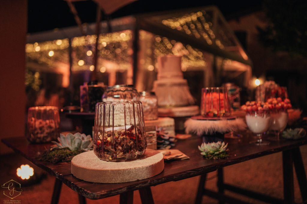 sweet table confettata matrimonio