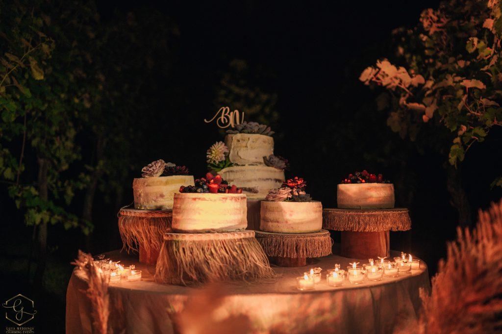 torta nozze matrimonio boho chic