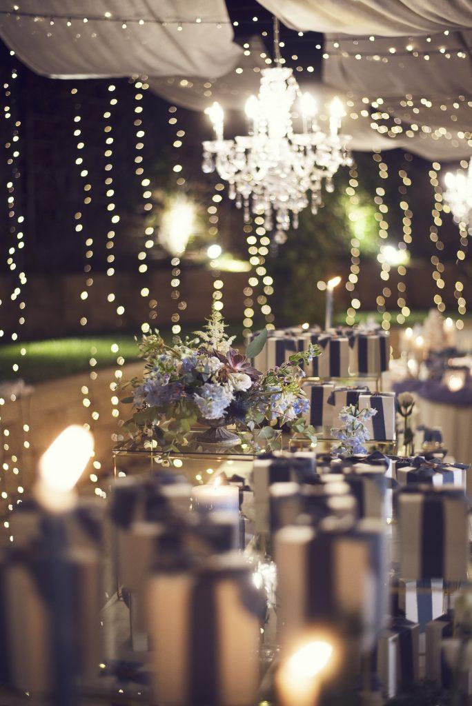 allestimento matrimonio in blu, wedding inspiration