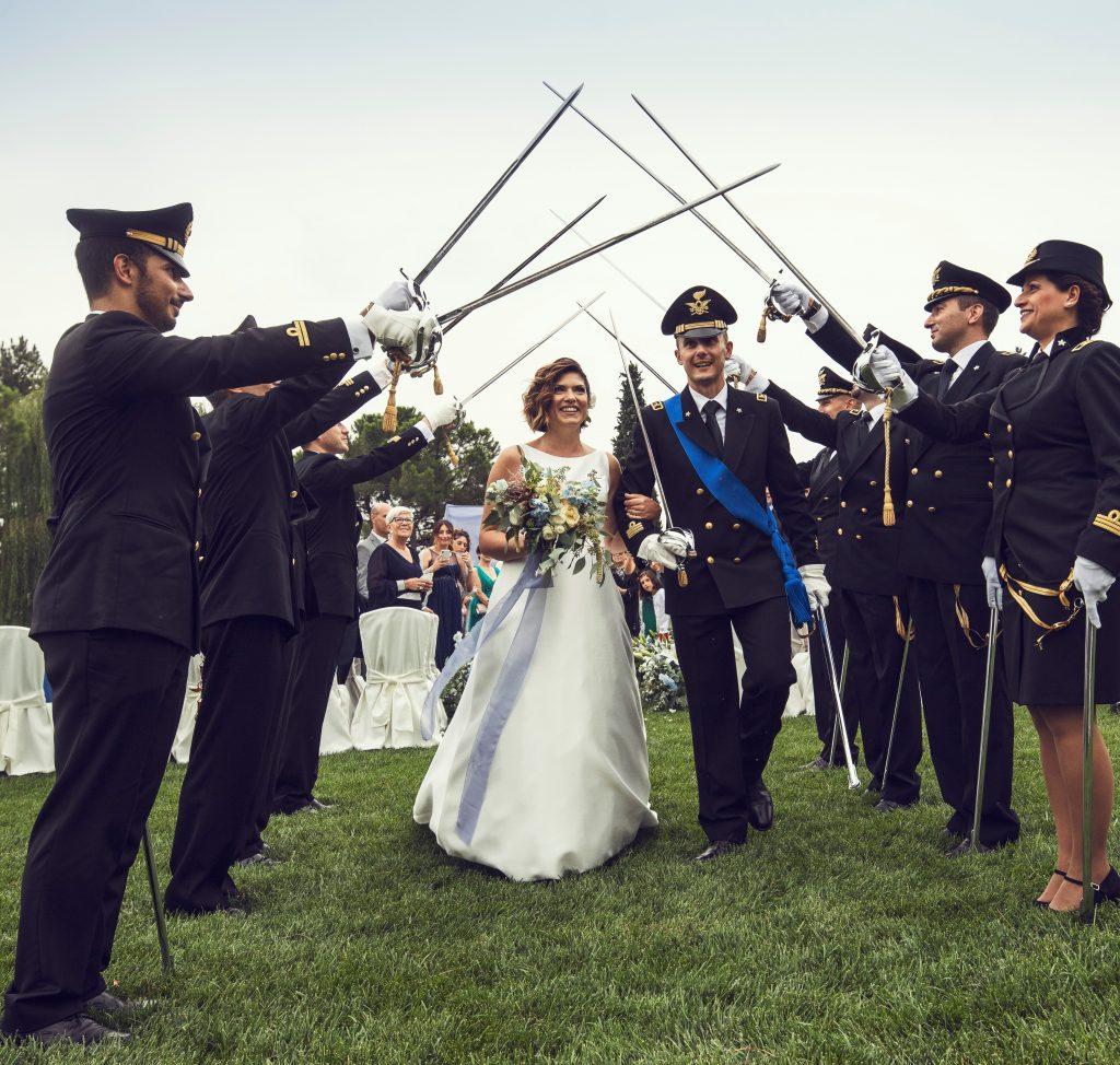 picchetto matrimonio in divisa